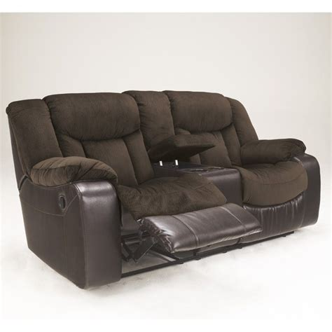 reclining loveseat microfiber signature design by ashley furniture tafton microfiber