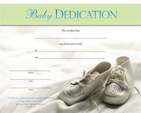 baby dedication certificates baby dedication certificate