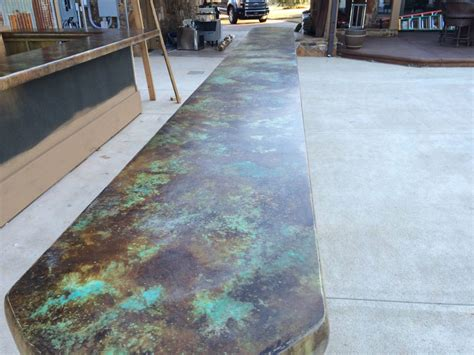 Acid Stain Concrete Countertop by Concrete Countertops Floors And More With William B