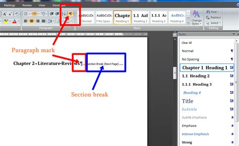 ms word insert section break section breaks word 28 images how to add section