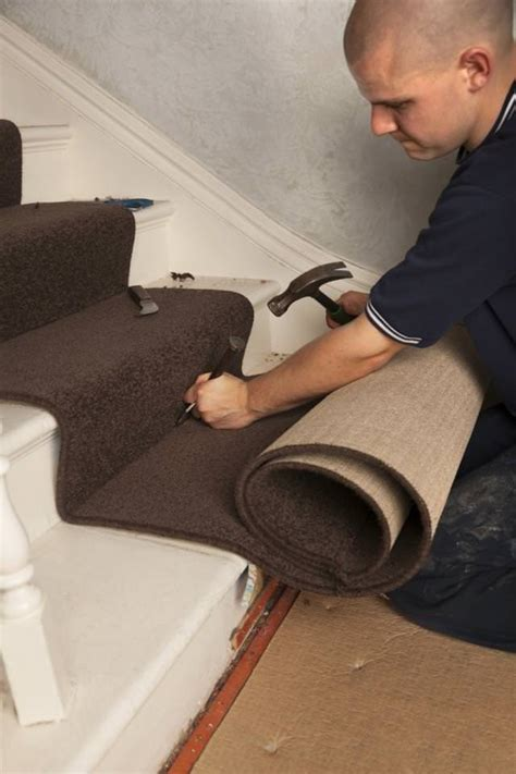 can you install carpet on steps witout tack strips installing carpet on stairs easy steps and lugenda