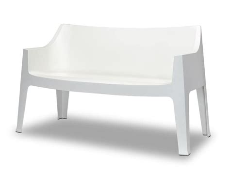 plastic garden sofa stable and comfortable sofa in propylene for outdoor use idfdesign