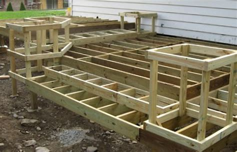 diy deck building how to build a deck free diy do it yourself step by step