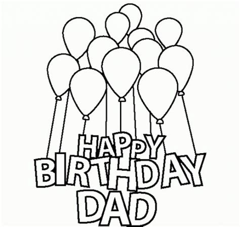 happy birthday dad design happy birthday coloring pages clipart best
