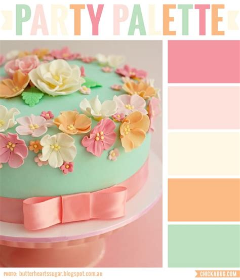 cake colors palette vintage floral cake palettes