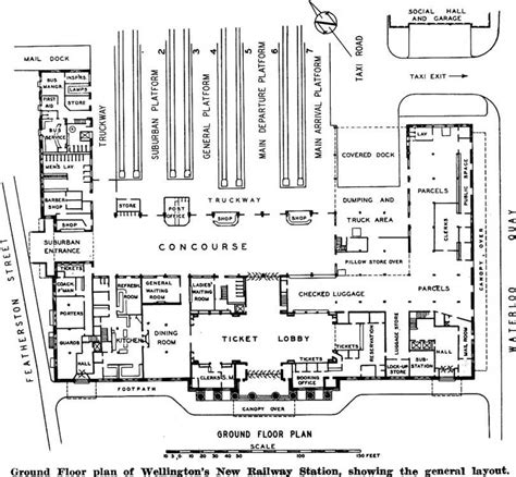 small station floor plans ground floor plan of wellingtons new railway station showing the general layout design
