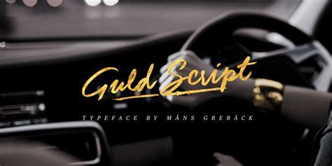 guld script font befontscom