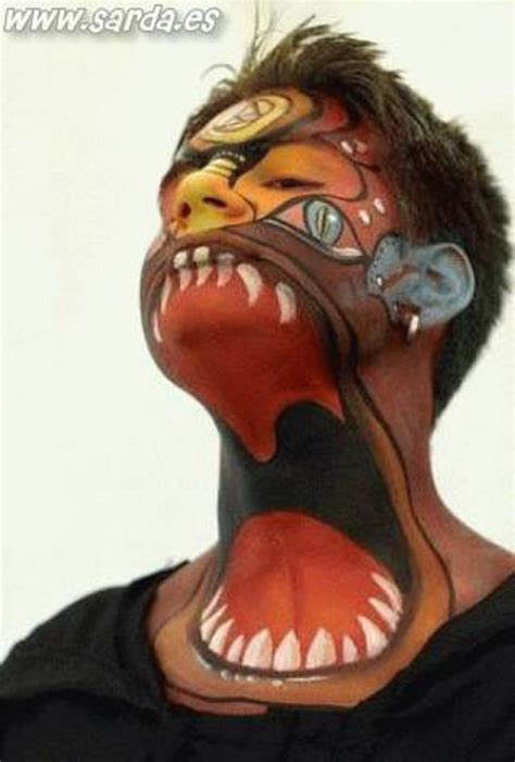 extreme tattoo makeup creative extreme tattoo on boy face and neck