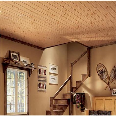 Pine Ceiling Designs by Woodhaven Light Knotty Pine 1146 From Armstrong