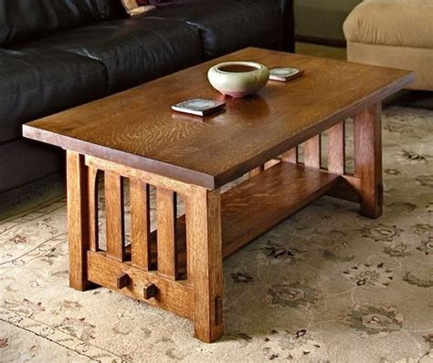 build  mission style coffee table   arts