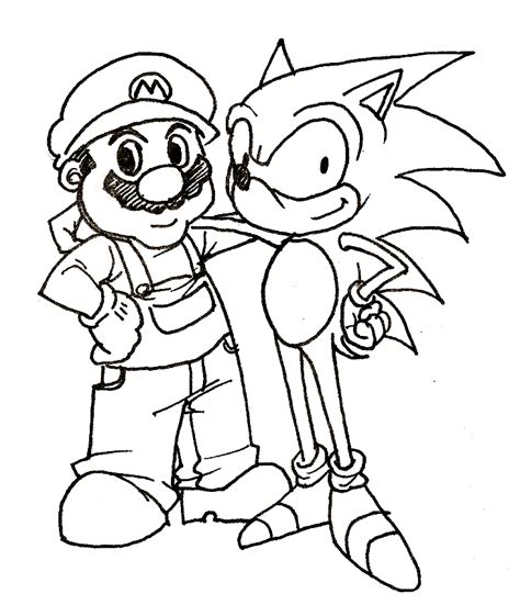 mario coloring pages online free sonic and mario coloring pages mario bros games mario