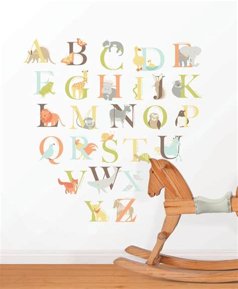 Alphabet Decor by New Wall Decals For The Nursery Poptalk