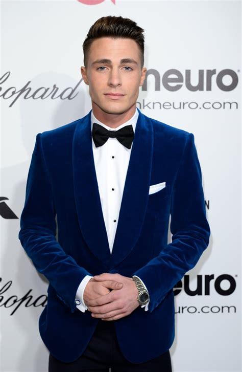 point suit  bow tie combo colton haynes hot