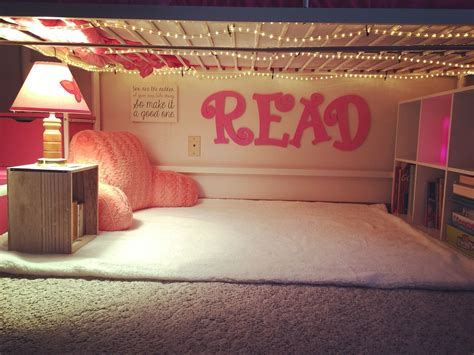 created  cute  reading nook   daughters