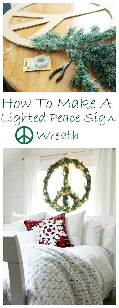 lighted peace sign wreath diy lighted peace sign wreath at the wicker