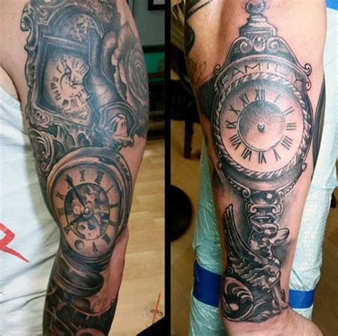 time clock tattoos 80 clock designs for timeless ink ideas