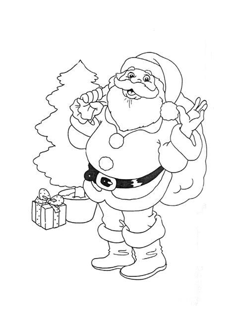 Coloriage Père Noël, Cadeaux et Sapin - Hugolescargot.com