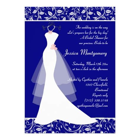 Who Gets Invited To The Bridal Shower by You Are Invited To A Royal Blue Wedding Invitations Ideas
