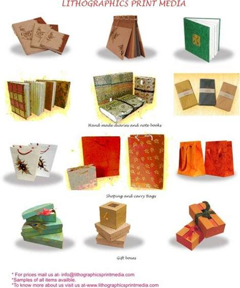 Handmade Paper Items - promotional items in handmade paper lithographics print