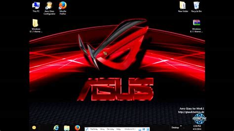 download themes windows 7 rog asus rog windows 8 1 theme by tiger youtube