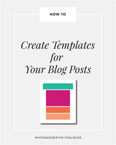 Blogging Template by Post Templates Best Practices Blogging Template