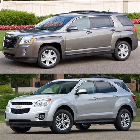 chevy terrain gmc terrain vs chevy equinox