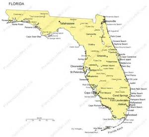 us map florida cities florida powerpoint map major cities