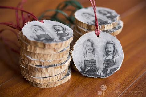 diy wooden christmas photo ornaments simply real moms