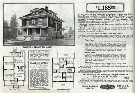 american foursquare house plans sears foursquare the chelsea or 264p111 flickr photo