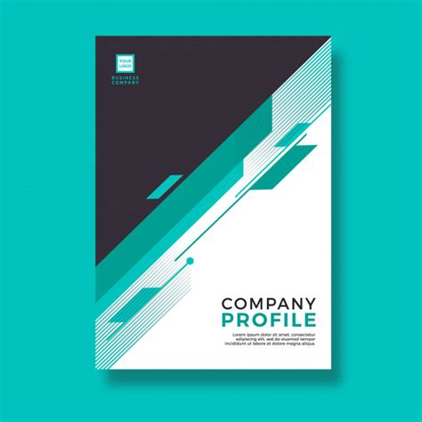 company profile design charges green abstract modern style design company profile vector