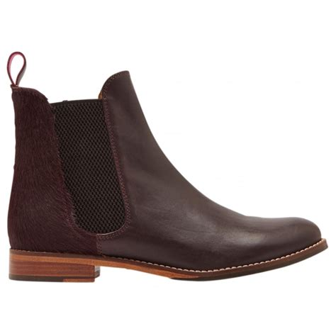 joules womens westbourne oxblood leather chelsea boot