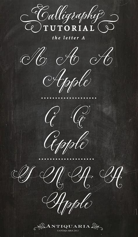 tutorial caligrafia lettering antiquaria calligraphy tutorials typography pinterest