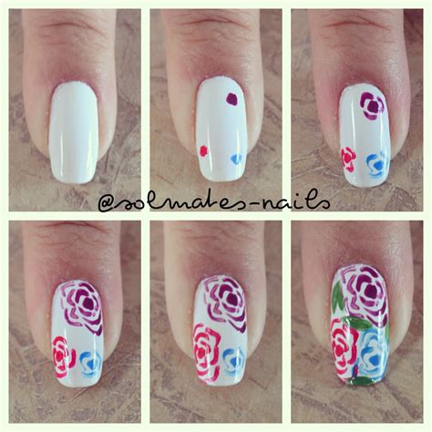 tutorial nail art sendiri mini tutorial desenhar flores simples