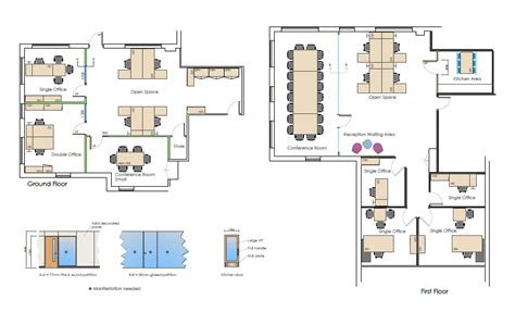 Best Open Floor Plans by Commercial Office Space Planning Meridian Interiors