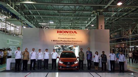 Yang 1 Juta dari 1 juta unit model mobil apa yang paling banyak diproduksi honda okezone news