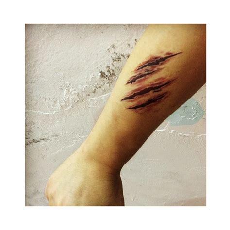 realistic temporary tattoos scar tattoos