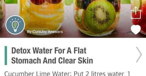 Detox To Clear Skin by Vitamin Detox Water For A Flat Tummy And Clear Skin Flat