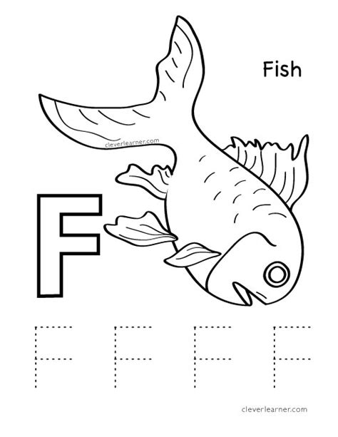preschool coloring pages letter f letter f writing and coloring sheet