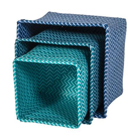 aufbewahrungskorb kinderzimmer blau aufbewahrungsk 246 rbe blau im 3er set sebra kaufen bei