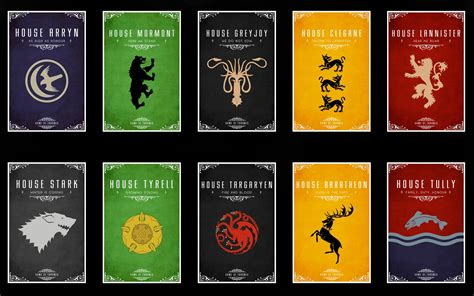 houses of game of thrones game of thrones houses by dzadze on deviantart