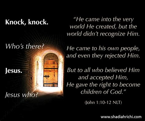 he ll come knocking at your door books is jesus knocking on the door of your
