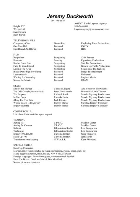 acting resume 1 copy