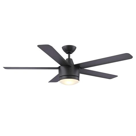 merwry 52 in led indoor white ceiling fan home decorators collection merwry 52 in led indoor matte