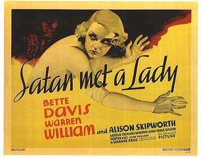 watch satan met a lady 1936 full movie official trailer movie poster art foreign versions films etc