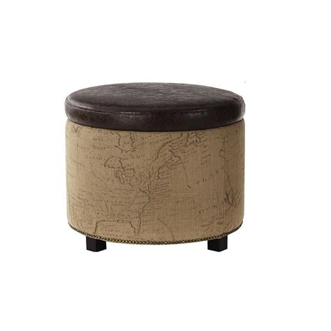 Home Decorators Ottoman Home Decorators Collection Chambers Canvas Shoe Ottoman In Brown 1587600820 The Home Depot