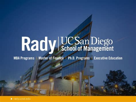 Ucsd Program Mba by An Introduction To The Rady School