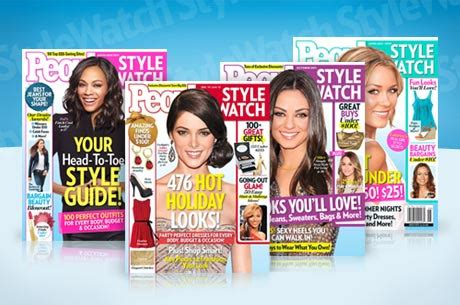 Peoplestylewatch Giveaways - 1 year subscription to people stylewatch who said nothing in life is free