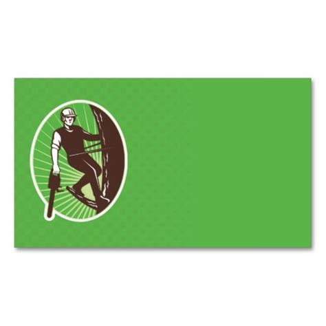 Arborist Business Card Templates by Arborist Tree Surgeon Agriculturist Chainsaw Business Card