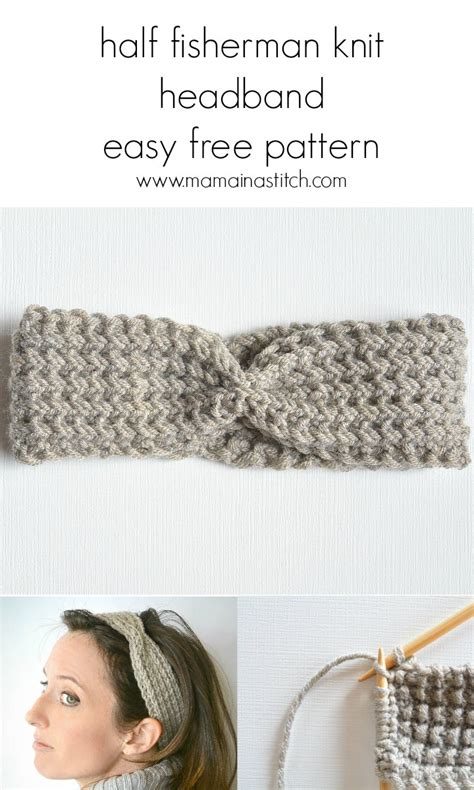 how to knit a simple headband half fisherman knit headband downton yarn