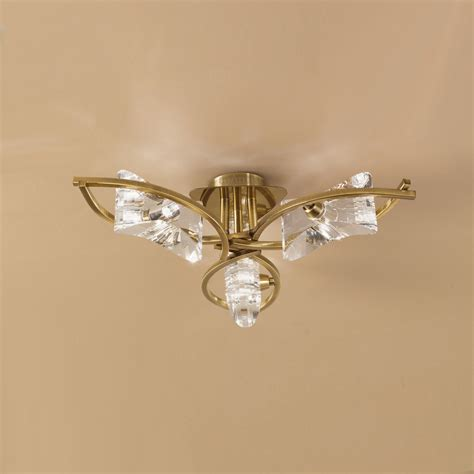 mantra m0891ab kromo 3 light antique brass ceiling pendant